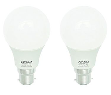 Loxam 7W LED Bulbs (Warm White, Pack of 2) Price in India