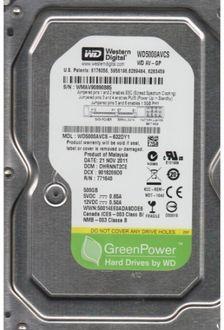 WD (WD5000AVCS-632DY1) AV-GP 500GB Desktop Internal Hard Drive Price in India