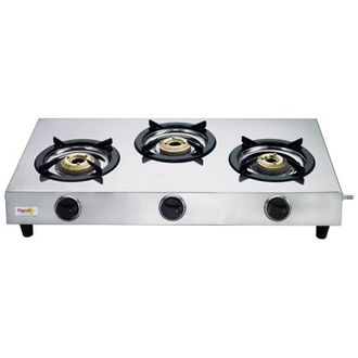 Pigeon Stainless Steel 123 Gas Cooktop (3 Burner) Price in India