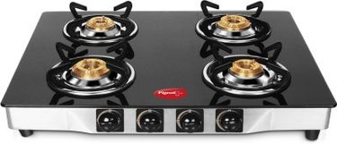 Pigeon Blackline Square SS Gas Cooktop (4 Burner) Price in India