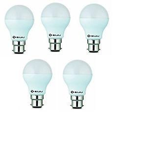 Bajaj 7W White LED Bulb(Pack Of 5) Price in India