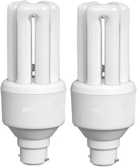 HPL B22 15W CFL Bulb (White, Pack of 2) Price in India