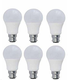 Syska 5W White Led Pa Bulbs (Pack Of 6) Price in India