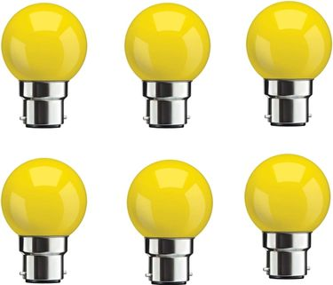 Syska 0.5W Yellow LED Bulbs (Pack Of 6) Price in India