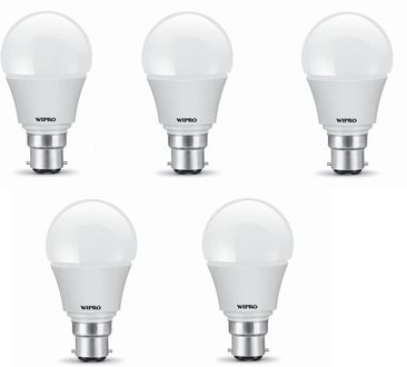 Wipro Garnet 7W White LED Bulbs (Pack Of 5) Price in India