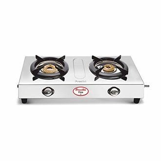 Preethi Fino Stainless Steel SSGS 002 Gas Cooktop (2 Burner) Price in India