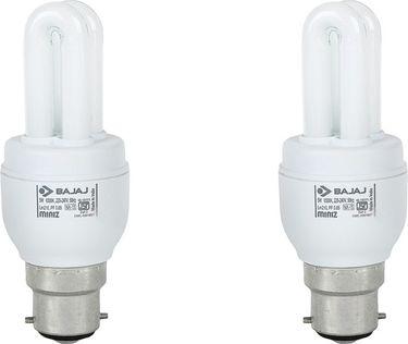 Bajaj Retrofit Miniz 5 Watt CFL Bulb (Warm White,Pack of 2 ) Price in India