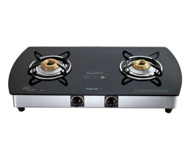 Pigeon Blackline Oval SS Gas Cooktop (2 Burner) Price in India