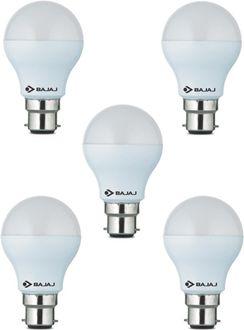 Bajaj 9 W LED CDL B22 HPF Bulb White (pack of 5) Price in India