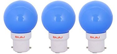 Bajaj Ping Pong B22 0.5W LED Bulb (Blue, Pack of 3) Price in India
