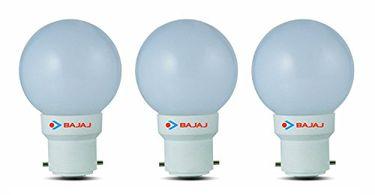 Bajaj Ping Pong B22 0.5W LED Bulb (White, Pack of 3) Price in India