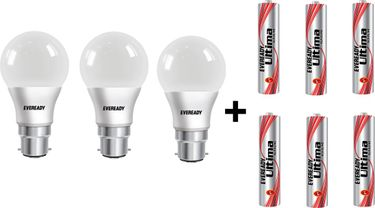 Eveready 7 W LED 6500K Cool Daylight Combo Bulb White (pack of 3) Price in India