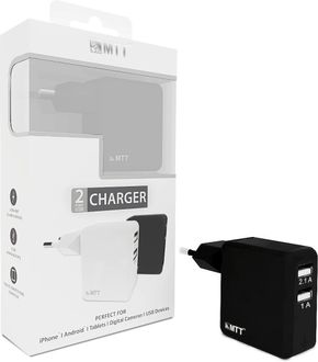 MTT Dual Port 2.1A Fast Charging Wall Charger Price in India