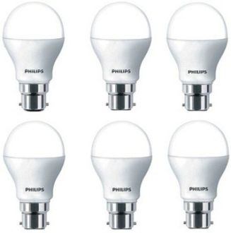 Philips 7W White LED Bulbs (Pack Of 6) Price in India