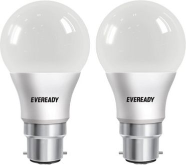 Eveready 5 W LED cool daylight B22 Bulb White (pack of 2) Price in India