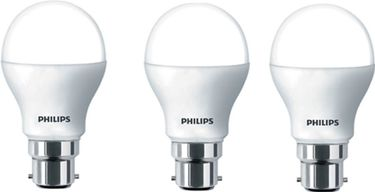 Philips 7 W LED Bulb B22 White (pack of 3) Price in India
