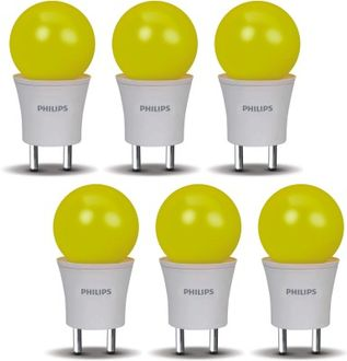Philips 0.5 W LED Joyvision-Plug N Play Bulb Yellow (pack of 6) Price in India