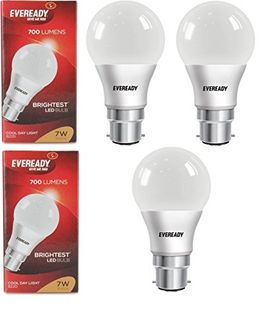 Eveready 7W Cool Day Light 700 Lumens LED Bulb (Pack of 3) Price in India