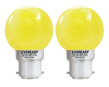 Eveready 0.5W Yellow Deco LED Bulb (Pack of 2) Price in India