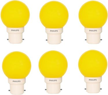 Philips 0.5 W LED Deco B22 IND Bulb Yellow (pack of 6) Price in India