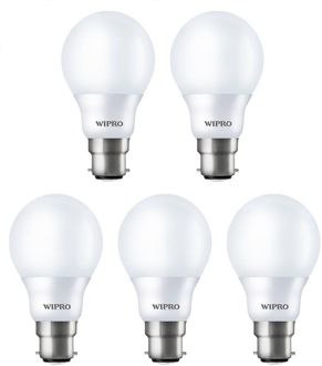 Wipro 9 W N90001 LED Bulb B22 White (pack of 5) Price in India