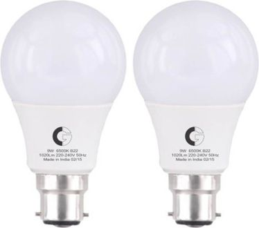 Crompton 9 W LED Bulb B22 White (pack of 2) Price in India