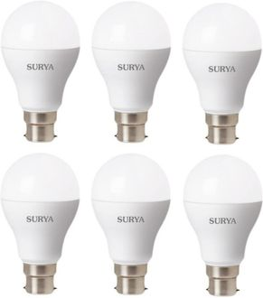 Surya 12W White 1260 Lumens LED Bulbs (Pack Of 6) Price in India