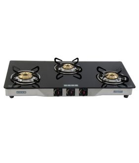 Usha Ebony GS3 003 SS Cook Top (3 Burners) Price in India
