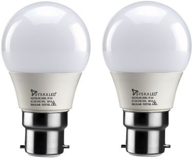 Syska 3 W B22 LED Bulb (Yellow, Pack of 2) Price in India