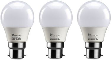Syska 3 W B22 LED Bulb (Yellow, Pack of 3) Price in India