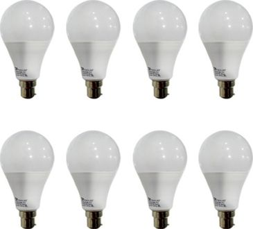 Syska 12 W B22 PAG LED Bulb (White, Pack of 8) Price in India