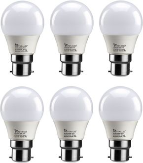 Syska 3 W B22 PA LED Bulb (Yellow, Pack of 6) Price in India