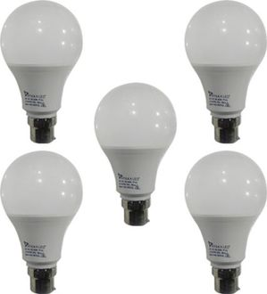 Syska 9 W B22 PAG LED Bulb (White ,Plastic, Pack of 5) Price in India