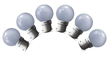Wipro 0.5W LED Bulb (Warm White , pack of 6) Price in India