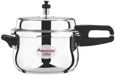 Butterfly Curve Stainless Steel 3 L Pressure Cooker Price in India