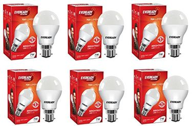 Eveready 7W 6500K White LED Bulbs (Pack of 6) Price in India
