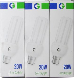 Crompton Greaves 20 W 3U CFL Bulb (Cool Daylight, Pack of 3) Price in India