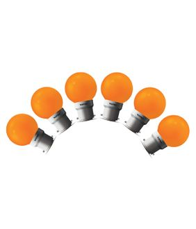 Wipro 0.5W LED Deco Bulb (Orange, Pack of 6) Price in India