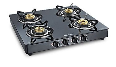Sunflame Crystal Plus 4B-BK AI Toughened Glass Gas Cooktop Price in India