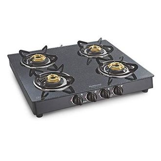 Sunflame Crystal Granito 4B-BK 4 Burner Gas Cooktop Price in India