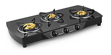 Sunflame Crystal Plus 3B-BK AI 3 Burner Gas Cooktop Price in India