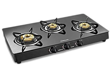 Sunflame Classic 3B-BK AI 3 Burner Gas Cooktop Price in India