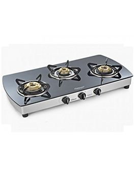 Sunflame Crystal Plus 3B-SS 3 Burner Gas Cooktop Price in India