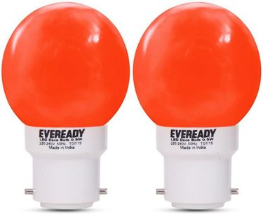 Eveready 0.5W Deco UP LED Bulb (Red, Pack of 2) Price in India