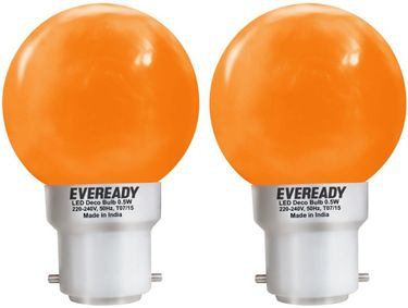 Eveready 0.5W Deco UP LED Bulb (Orange, Pack of 2) Price in India