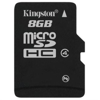 Kingston 8GB MicroSDHC Class 4 (4MB/s) Memory Card Price in India
