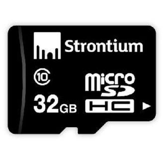Strontium 32 GB MicroSDHC Class 10 (10MB/s) Memory Card Price in India