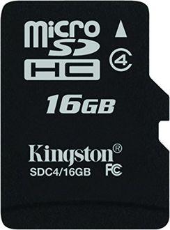 Kingston 16GB MicroSDHC Class 4 (4MB/s) Memory Card Price in India