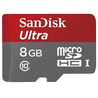 SanDisk Ultra 8GB MicroSDHC Class 10 (48MB/s) UHS-1 Memory Card (With Adapter) Price in India