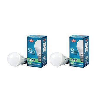 HPL 9W B22 LED Bulb (White, Pack of 2) Price in India
